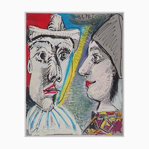 Two Faces Lithograph Reprint by Pablo Picasso