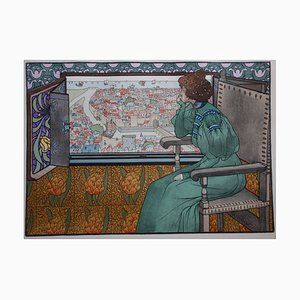 Solveig Lithograph by Gustave-Max Stevens, 1897