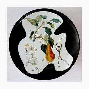 The Pear Don Quixote Porcelain Dish by Dali Salvador