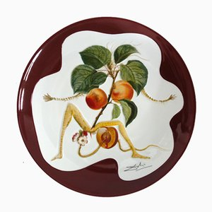 The Apricot Knight Porcelain Dish by Dali Salvador
