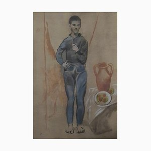 Young Boy in Blue Lithographie von Pablo Picasso