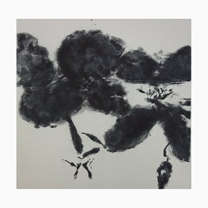When I Listen to the Clock Aquatint Engraving by Zao Wou-Ki
