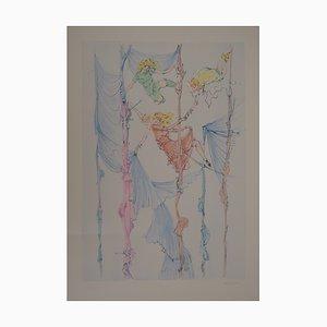 Grabado The Little Acrobats de Hans Bellmer
