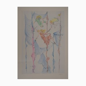 Incisione The Little Acrobats di Hans Bellmer