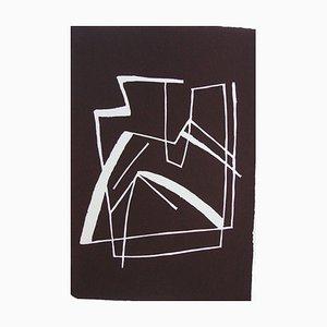 """Alberto Magnelli """"Sans titre, 1968"""" linogravure ORIGINALE signée main et justifiee Référence catalogue raisonné 43"""