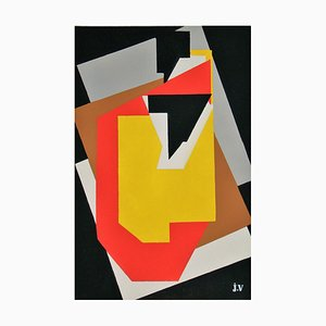 Monogrammed Stencil Reprint by Jacques Villon, 1953