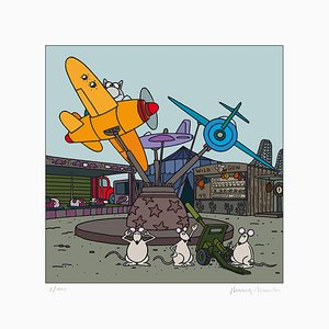 Plane Digigraph by Philippe Geluck, 2017