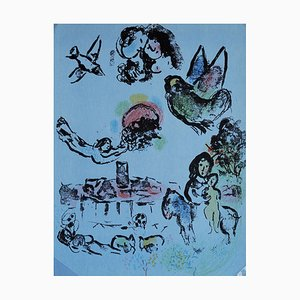 Nocturnal Venice Lithograph by Marc Chagall