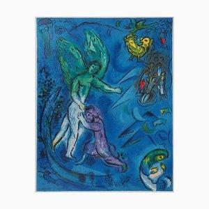 Litografía The Struggle of Jacob and The Angel de Marc Chagall