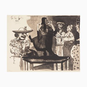 The Lover of The Toreador Lithograph Reprint by Pable Picasso, 1960