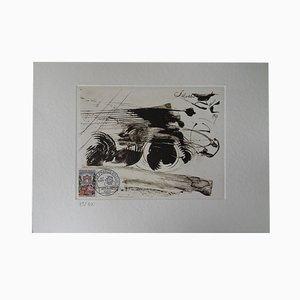 Tour de France Engraving by Salvador Dali, 1959
