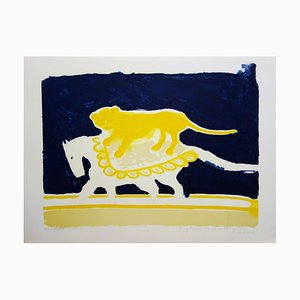 Circus, Lion on a Horse Lithograph by André Brasilier