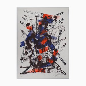 Accumulation of Brushes on Violins Lithograph by Arman