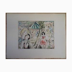 Mily POSSOZ - The fair, signed engraving