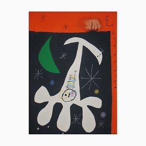 Litografia Character and Bird II with Stencil di Joan Miro, 1967