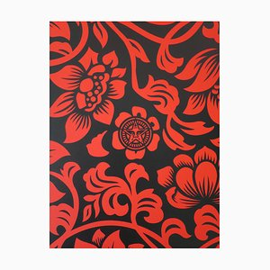 Floral Takeover 2017 (Red/Black) by Shepard Fairey