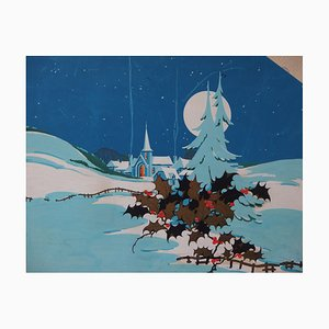 The Silence of Christmas Gouache by Robert Pichon