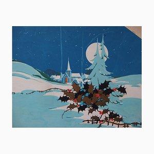 The Silence of Christmas Guouache di Robert Pichon