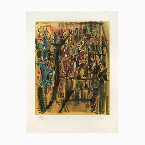 Ocraneil Lithograph by Camille Bryen, 1972