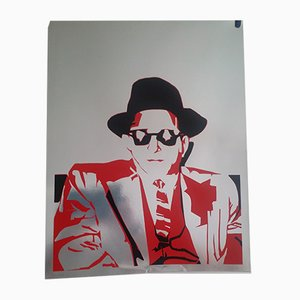 Carta serigrafica Man with Hat on Aluminum di Bernard Rancillac