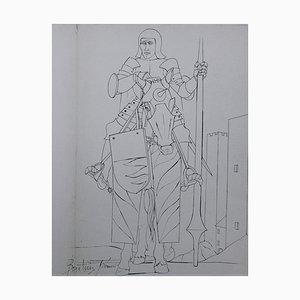 Sienne, Soldat Etching by Pierre-Yves Trémois