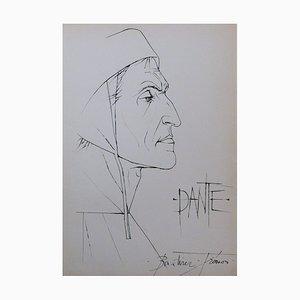 Sienne, Dante Etching by Pierre-Yves Trémois