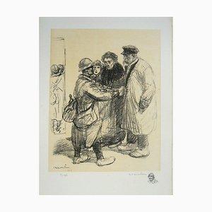 We Do not Not Care Lithographie von Théophile Alexandre Steinlen, 1916