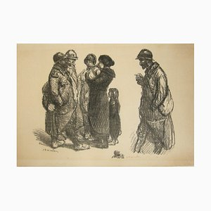 No family... Lithograph by Théophile Alexandre Steinlen, 1915