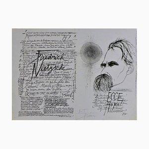 Nietzsche Gravüre von Pierre-Yves Tremois