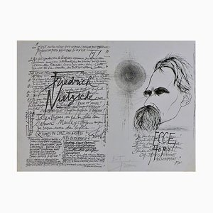 Nietzsche Gravure by Pierre-Yves Tremois