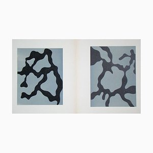 Relief I. + II. Holzschnitte von Jean Arp, 1954