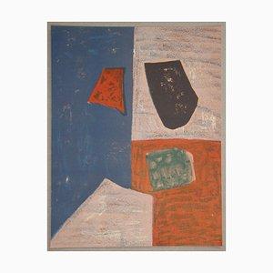 Litografia Composition Rose, Rouge et Bleue di Serge Poliakoff