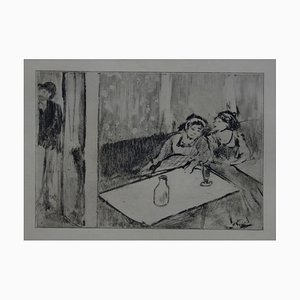 Champagne avant l'Amour Gravure von Edgar Degas, 1935