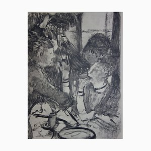 Incisione Women Sharing a Meal di Edgar Degas, 1935