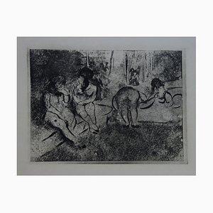 Aguafuerte Obscene Scene de Edgar Degas, 1935