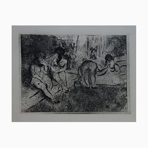 Obscene Scene Etching by Edgar Degas, 1935