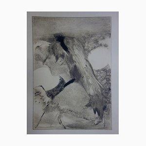 Girl with Blond Hair Radierung von Edgar Degas, 1935