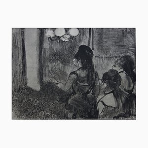 Edgar DEGAS - Three women in the living room - original etching, 1935