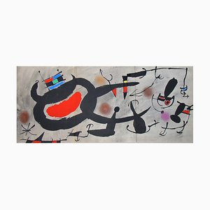 Study for an Engraving Lithograph with Stencil Reprint by Joan Miro, 1967