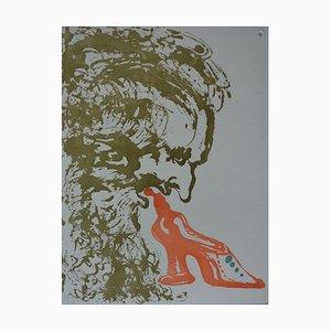 Incisione Eight Deadly Sins, Gluttony di Salvador Dali, 1968