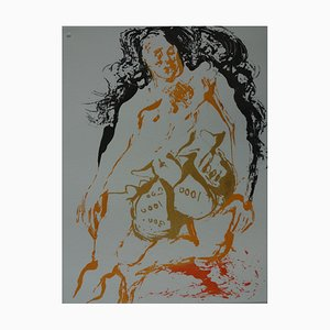 Aguafuerte Eight Dead, Avarice Etching de Salvador Dali, 1968