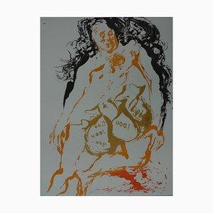 Incisione Eight Deadly Sins, Avarice di Salvador Dali, 1968