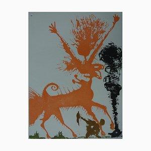 Huit Péchés Capitaux, La Colère Gravure par Salvador Dali, 1968