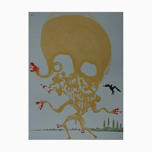 Huit Péchés Capitaux, l'Envie Gravure par Salvador Dali, 1968