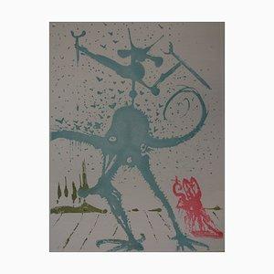 Incisione Eight Deadly Sins, The Dalinian Sin di Salvador Dali, 1968