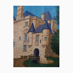 Louis TOFFOLI - Sedière Castle, original signed lithograph