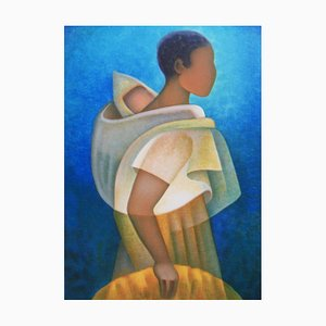 Louis TOFFOLI (1907-1999) - Black Maternity, original signed lithograph