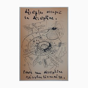 Roberto MATTA - Original poster of May 68: Disciples occupy the discipline