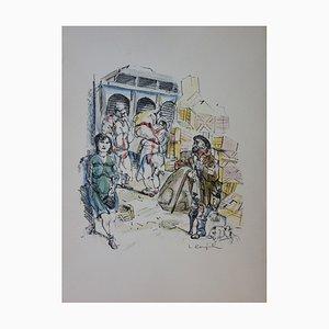Léonard FOUJITA - Halls - Original lithographie