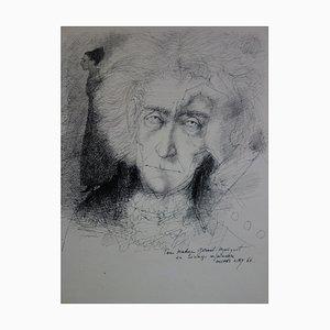 Michel CIRY : Le penseur et sa muse - Dessin original signé